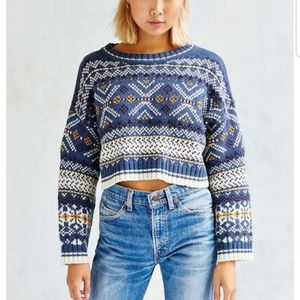 Urban Outfitters Cropped Anna Sweater